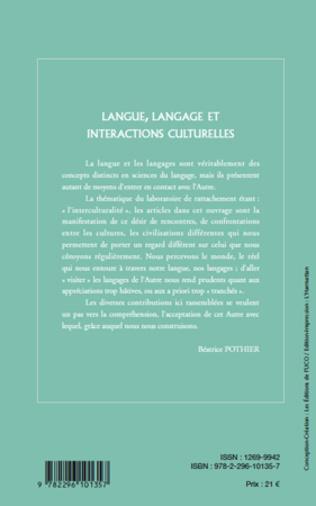 4eme Langue, langage et interactions culturelles