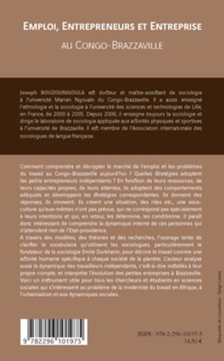 4eme Emploi, entrepreneurs et entreprise au Congo-Brazzaville