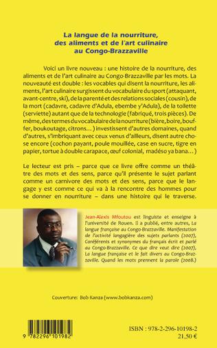4eme La langue de la nourriture des aliments et de l'art culinaire au Congo-Brazzaville