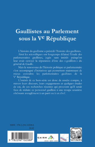 4eme Gaullistes au Parlement sous la Ve République