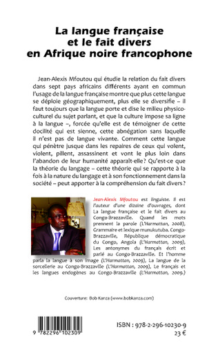 4eme La langue française et le fait divers en Afrique noire francophone
