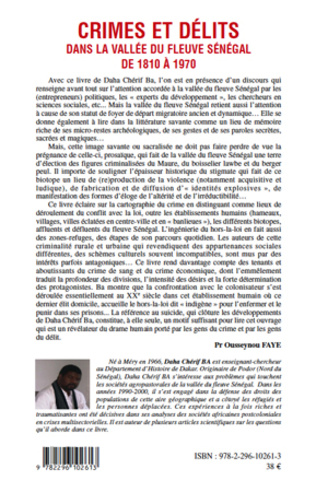 4eme Crimes et délits dans la vallée du fleuve Sénégal de 1810 à 1970