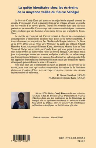 4eme La quête identitaire chez les écriviains de la moyenne vallée du fleuve Sénégal