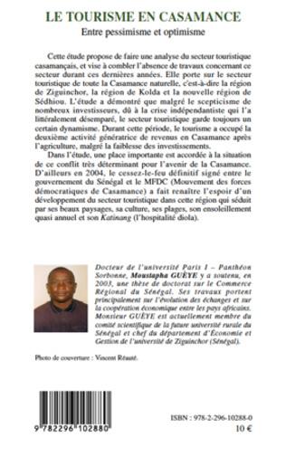 4eme Le tourisme en Casamance