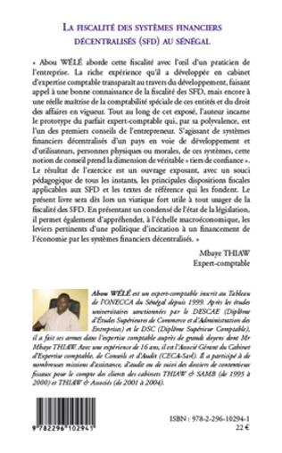 4eme La fiscalité des systèmes financiers décentralisés (SFD) au Sénégal