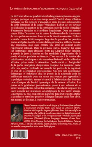 4eme La poésie sénégalaise d'expression française (1945 - 1982)