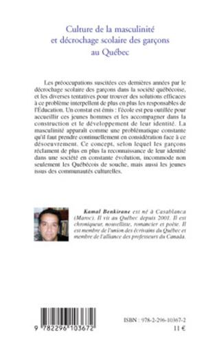4eme Culture de la masculinité et décrochage scolaire des garçons au Québec