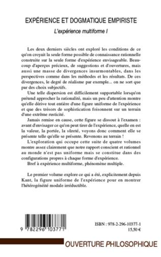 4eme Expérience et dogmatique empiriste