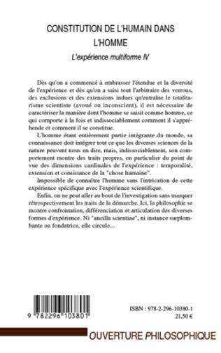 4eme Constitution de l'humain dans l'homme