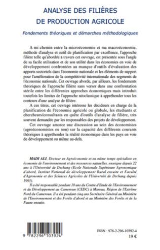 4eme Analyse des filières de production agricole