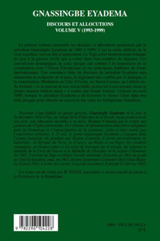 4eme Gnassingbe Eyadema (volume V)