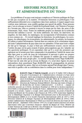 4eme Histoire politique et administrative du Togo