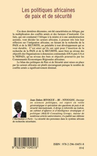 4eme Les politiques africaines de paix et de sécurité