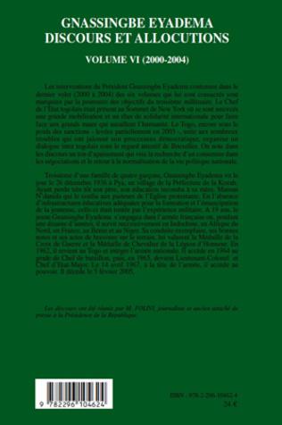 4eme Gnassingbe Eyadema (volume VI)