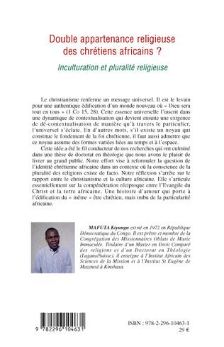 4eme Double appartenance religieuse des chrétiens africains ?