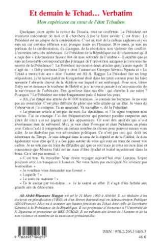 4eme Et demain le Tchad... Verbatim
