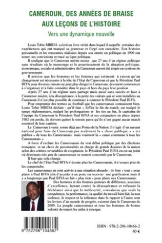 4eme Cameroun, des années de braise aux leçons de l'histoire