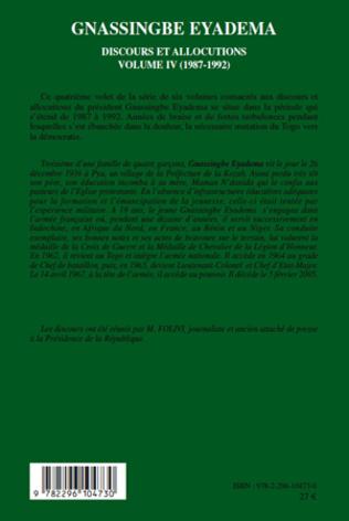 4eme Gnassingbe Eyadema (volume IV)