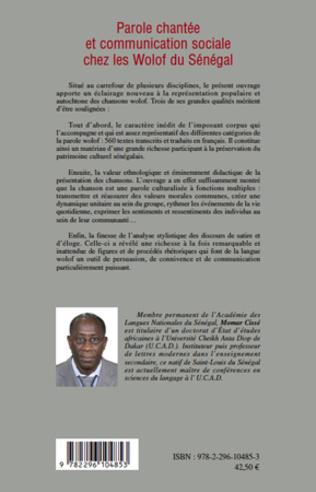 4eme Parole chantée et communication sociale chez les Wolof du Sénégal