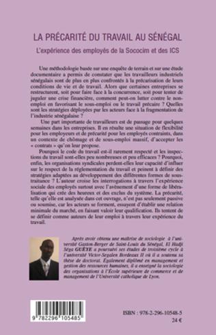 4eme La précarité du travail au Sénégal