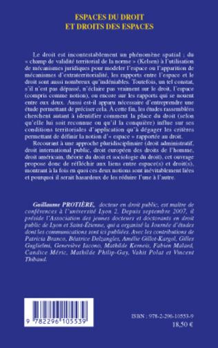 4eme Espaces du droit et droits des espaces