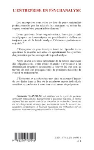 4eme L'entreprise en psychanalyse