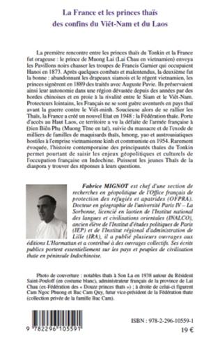 4eme La France et les princes thaïs des confins du Viêt-Nam et du Laos