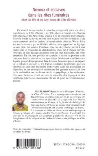 4eme Neveux et esclaves dans les rites funéraires chez les Wè et les Anyi-bona de Côte d'Ivoire