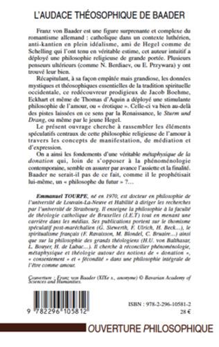 4eme L'audace théosophique de Baader