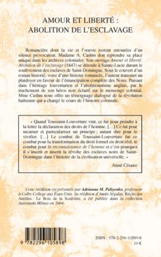 4eme Amour et liberté : abolition de l'esclavage