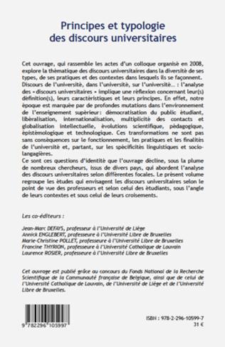 4eme Principes et typologie des discours universitaires
