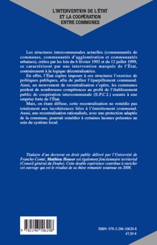 4eme L'intervention de l'Etat et la coopération entre communes