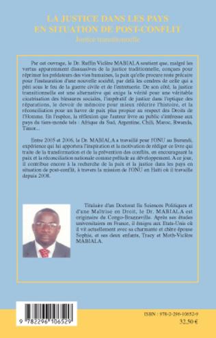 4eme La justice dans les pays en situation de post-conflit