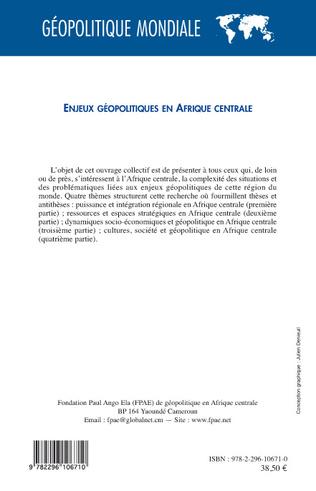 4eme Enjeux géopolitiques en Afrique centrale