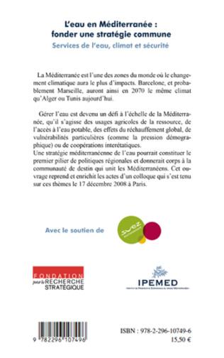 4eme L'eau en Méditerranée : fonder une stratégie commune