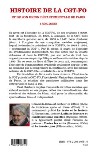4eme Histoire de la CGT-FO et de son union départementale de Paris (1895-2009)
