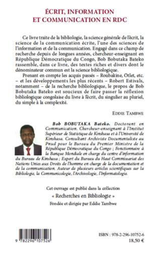 4eme Ecrit, information et communication en RDC