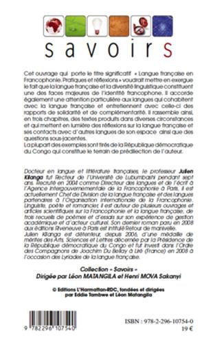 4eme Langue française en Francophonie