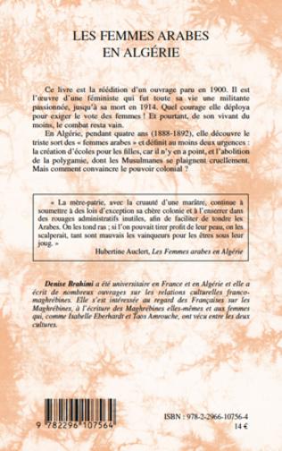 4eme Les femmes arabes en Algérie