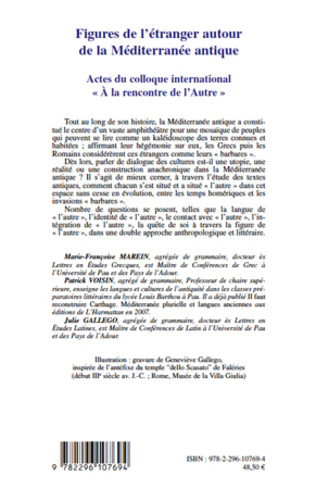 4eme Figures de l'étranger autour de la Méditerranée antique