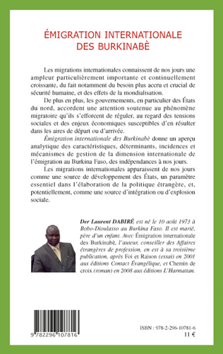 4eme Emigration internationale des Burkinabè