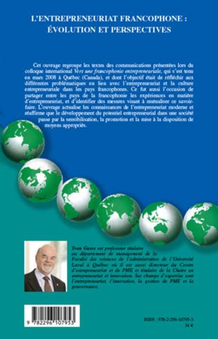 4eme L'entrepreneuriat francophone : évolution et perspectives