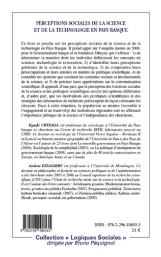 4eme Perceptions sociales de la science et de la technologie en Pays Basque