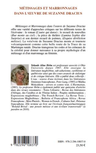 4eme Métissages et marronages dans l'oeuvre de Suzanne Dracius