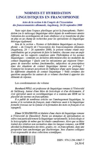4eme Normes et hybridation linguistiques en francophonie
