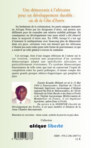 4eme Une démocratie à l'africaine pour un développement durable :