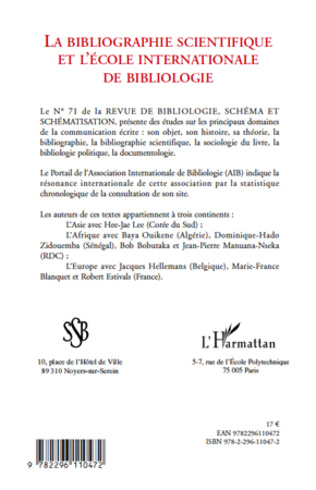 4eme ASSOCIATION INTERNATIONALE DE BIBLIOLOGIE (AIB)