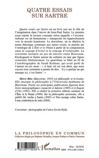 4eme Quatre essais sur Sartre