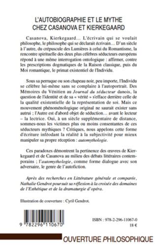 4eme L'autobiographie et le mythe chez Casanova et Kierkegaard
