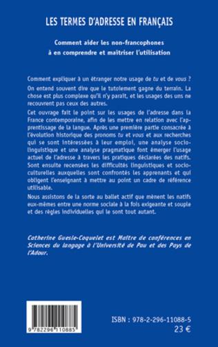 4eme Les termes d'adresse en Français